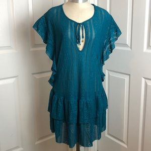 Jessica Simpson Cameo Cover-Up Teal NWT Size S
